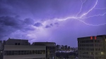 Lightning is seen over Metro Vancouver on Monday, May 17, 2021. (Provided by Charles Lamoureux)