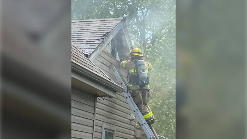 Chatham-Kent fire crews responded to a house fire at 158 West Street in Chatham, Ont. on Monday, May 17, 2021. (courtesy Chatham-Kent Fire and Emergency Services)