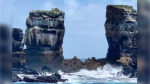 Darwin's Arch - without its connecting rock shelf - is seen here in this image posted by the Ecuadorian Ministry of Environment. (Facebook/Ministerio del Ambiente y Agua de Ecuador/Hector Barrera)