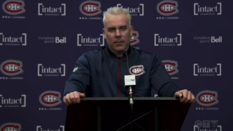 Montreal Canadiens coach Dominique Ducharme