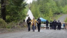 Police have begun arresting anti-old-growth logging protesters who refuse to leave a restricted access area set up by RCMP near Port Renfrew, Vancouver Island: May 18, 2021 (CTV News)