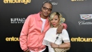 "FILE - In this Monday, June 1, 2015 file photo, T.I., left, and Tiny arrive at the Los Angeles premiere of ""Entourage"" at the Westwood Regency Village Theatre. Rapper T.I. and his wife Tameka ""Tiny"" Harris are under investigation by police in Los Angeles after a sexual abuse allegation.(Photo by Rob Latour/Invision/AP, File)"