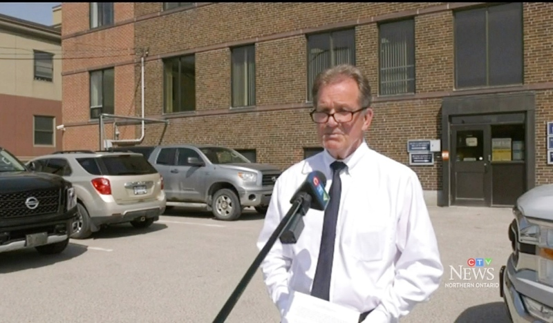 Timmins Mayor George Pirie declared the emergency to the public, Monday afternoon. (Photo from video)