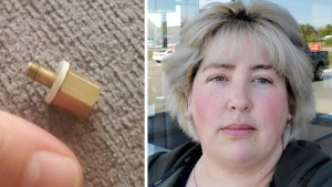 Woman says she choked on screw in iced coffee