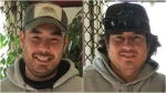 Erick and Carlos Fryer are shown in images provided by the B.C. RCMP Major Crime team.