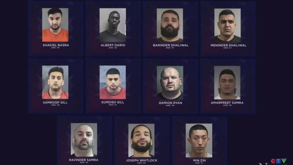Warning issued about these 11 alleged gangsters