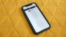 The U.S. Lavender Book web-based app, which just launched Monday, is seen on an iPhone on May 18, 2021 (Austin Steele/CNN)