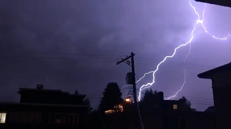 thunderstorm lightning vancouver