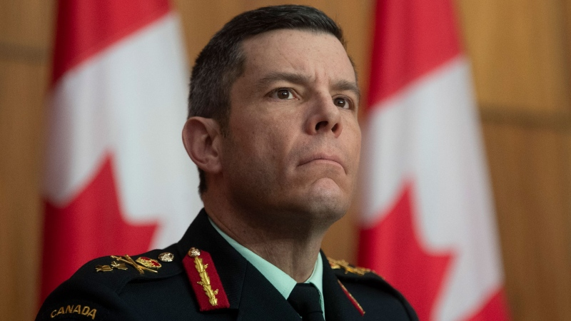FILE - Then-Major General Dany Fortin listens to a question during a news conference Tuesday January 5, 2021 in Ottawa. THE CANADIAN PRESS/Adrian Wyld