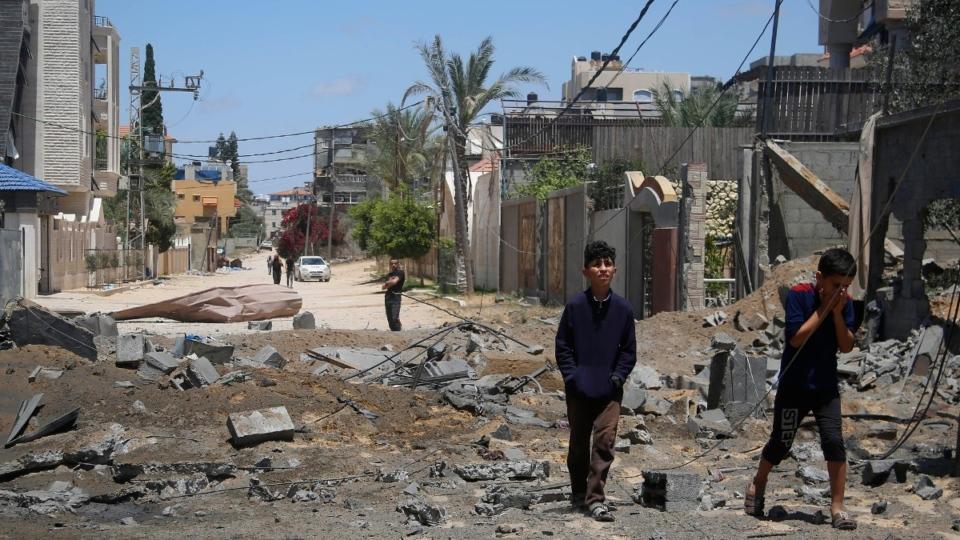 In Beit Lahyia, northern Gaza Strip