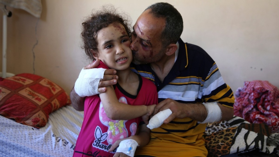 At Shifa Hospital in Gaza City