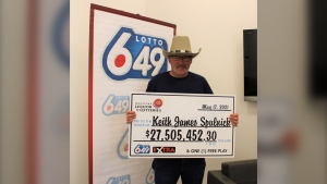 Keith Spulnick, claimed his $27.5 million Lotto 6/49 win on May 17, 2021. He has the largest Lotto 6/49 win in Manitoba's history. (Source: Manitoba Liquor and Lotteries)