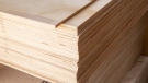 A stack of plywood is seen in this undated image. (Shutterstock)