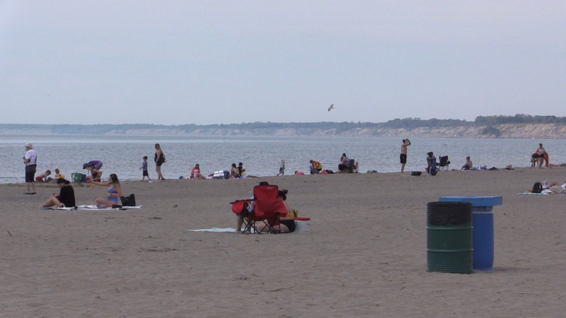 Port Stanley, Ont. beach on May 19, 2021. (Brent Lale/CTV London)