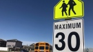A school zone sign is pictured in this file photo.
