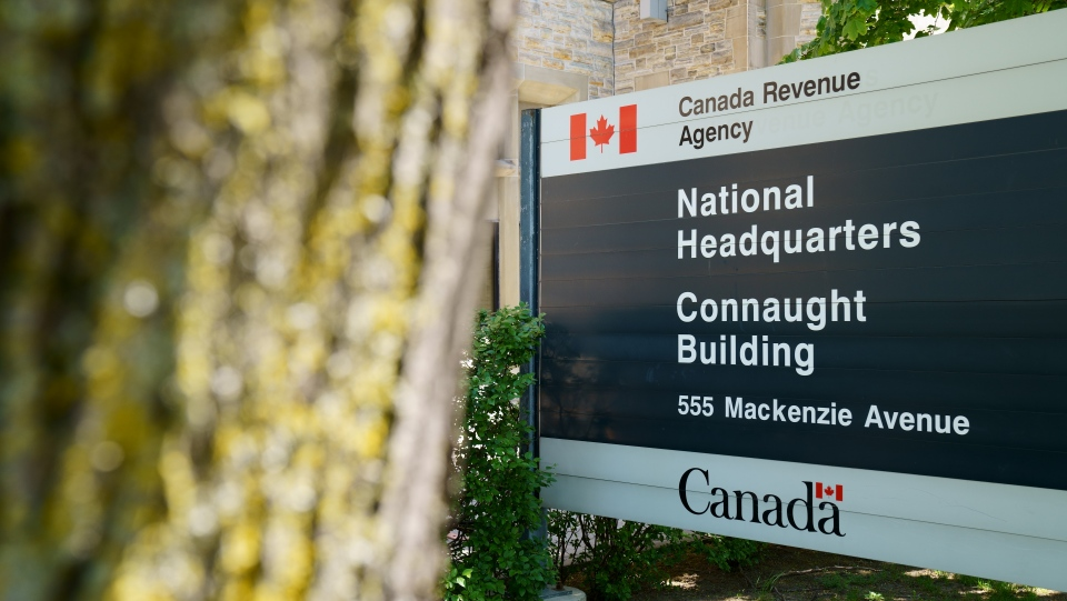 The Canada Revenue Agency (CRA) in Ottawa is pictured on May 19, 2021. (Photo by CTV News' Jeff Denesyk)