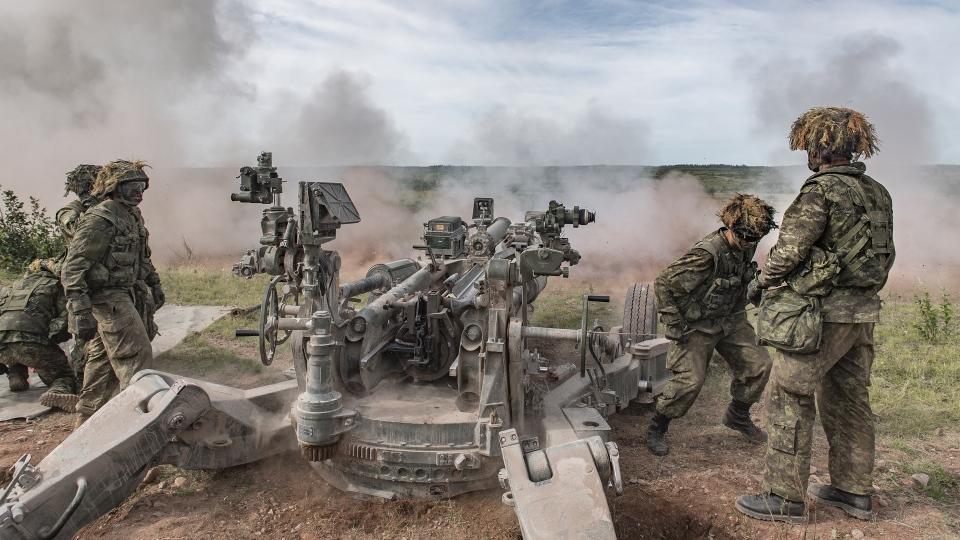 Artillery gunners Gagetown