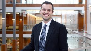 Jaris Swidrovich is shown in an image taken from the University of Saskatchewan website.
