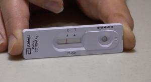 A COVID-19 rapid test kit.