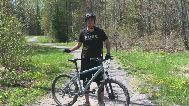 Exploring the Walden Trails on a mountain bike