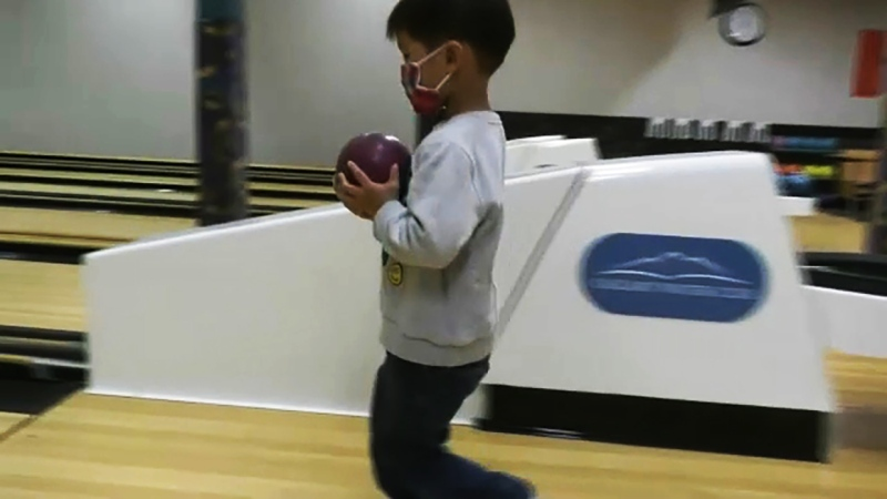 Lucas Eng is four and can break 100 in bowling. He's our Athlete of the Week. Glenn Campbell reports