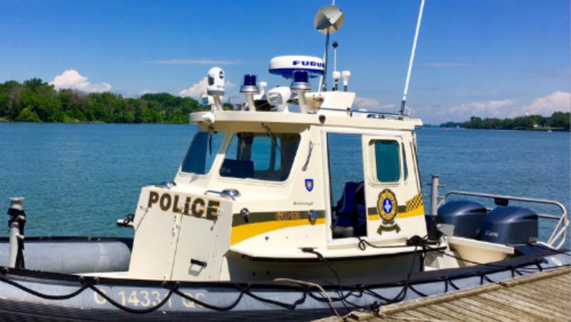 Surete du Quebec search boat - FILE PHOTO