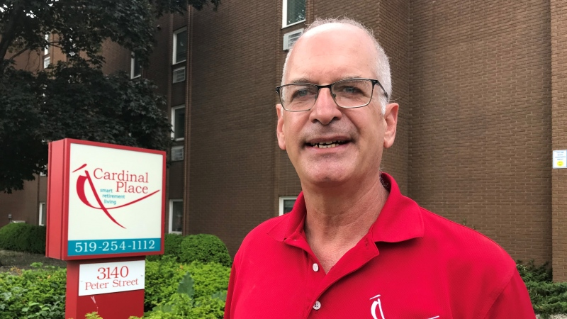 Mike Cardinal, owner of Cardinal Place in Windsor Ont. is happy visitation rules are easing in retirement homes. Michelle Maluske/CTV Windsor