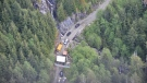 BC RCMP provided this aerial photo of the anti-logging protest camp near Port Renfrew.