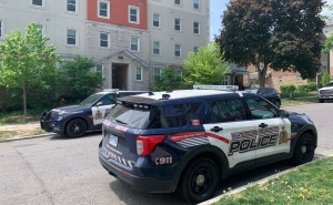 Regional police on scene of a reported shooting in Waterloo for the second day. (Natalie Van Rooy/CTV Kitchener) (May 23, 2021)