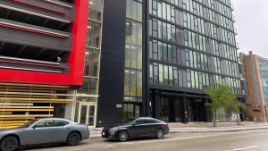 Those who live in the Glass House condos are wanting more regulations for short-term renters. May 22, 2021. (Source: Zachary Kitchen/CTV News)