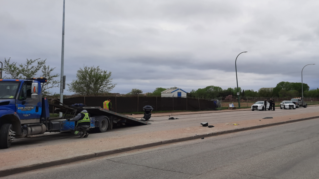 Collision near Grant Ave. and Kenaston Blvd.