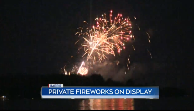 Barrie city council is expected to ratify a motion limiting when fireworks can be set off (File)