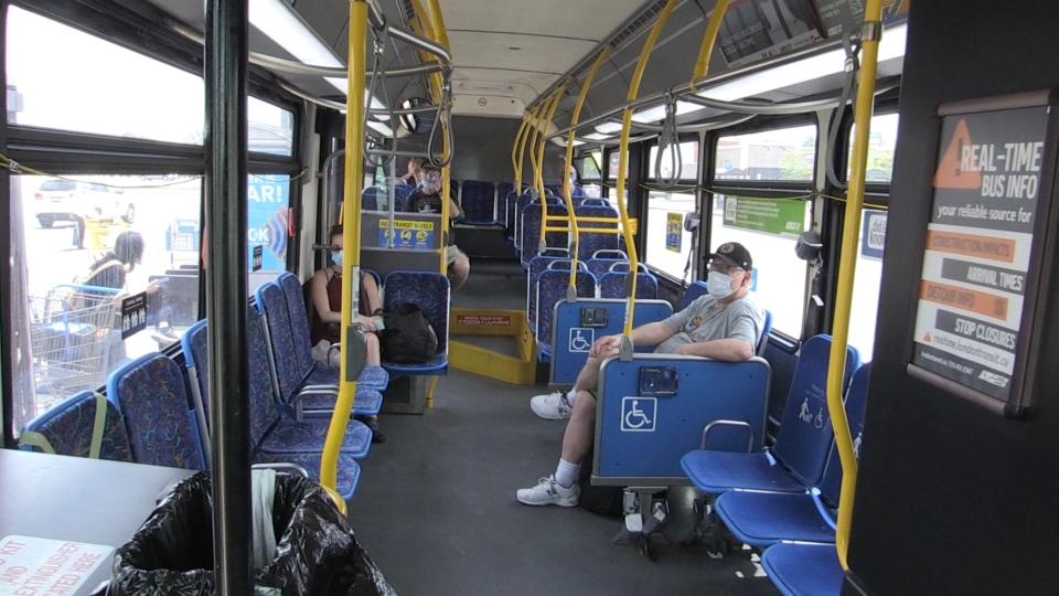 On board an LTC bus