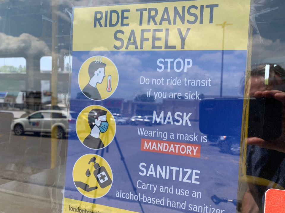 Ride Transit Safely sign