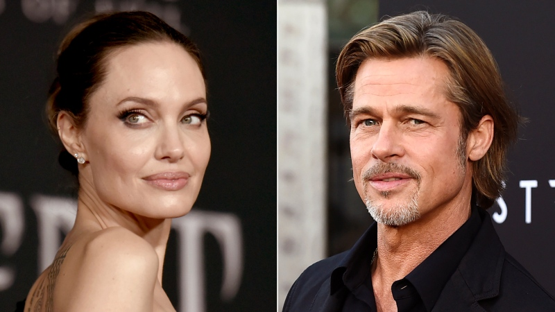 """This combination photo shows Angelina Jolie at the world premiere of """"Maleficent: Mistress of Evil"""" in Los Angeles on Sept. 30, 2019, left, and Brad Pitt at the special screening of """"Ad Astra"""" in Los Angeles on Sept. 18, 2019. Jolie asked Monday that the private judge overseeing her divorce from Pitt be disqualified from the case because of insufficient disclosures of his business relationships with one of Pitt's attorneys. In a filing in Los Angeles Superior Court, Jolie argues that Judge John W. Ouderkirk should be taken off the divorce case because he was too late and not forthcoming enough about other cases involving Pitt attorney Anne Kiley. Pitt's attorneys did not immediately respond to an email seeking comment. (AP Photo)"""