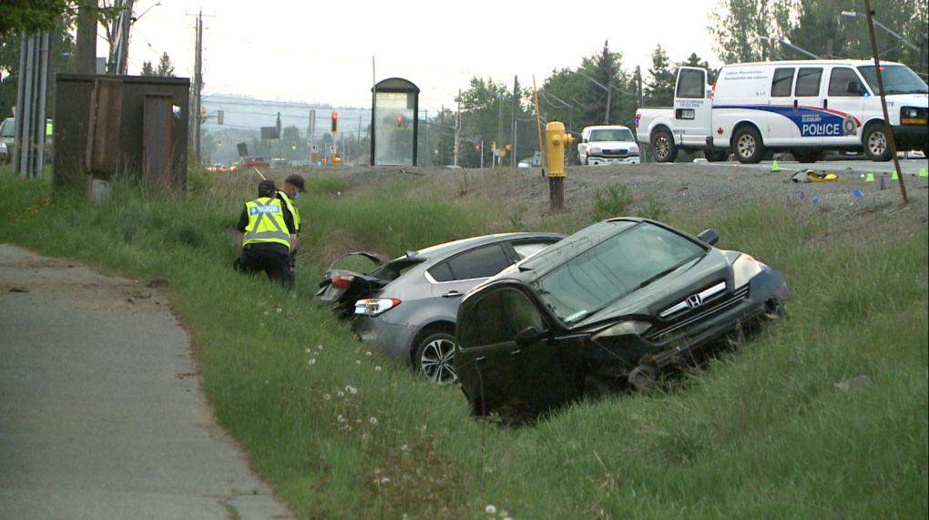 Two vehicle collision on Highway 69