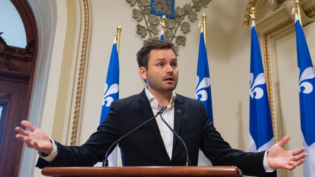 Parti Quebecois leader Paul St-Pierre Plamondon