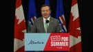Premier Jason Kenney announced Alberta's reopening plan Wednesday, May 26, 2021. (Source: Alberta Government)