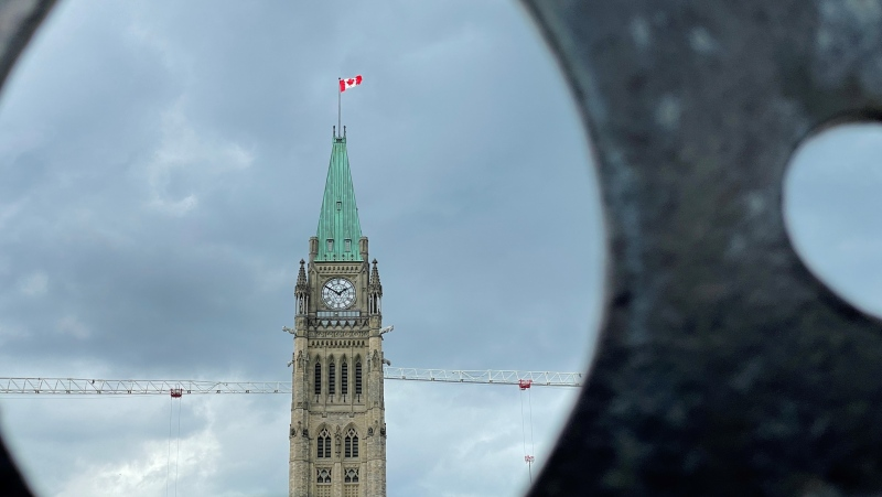 Parliament Hill is seen in this photo taken on May 26, 2021. (Photo by CTV News' Jeff Denesyk)
