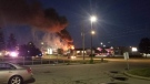 A fire at Super 8 in Guelph (Supplied: Brandon Botts)