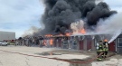 Crews battle a fire at a motel in Kincardine, Ont. on Wednesday, May 26, 2021. (Source: Brad Lemaich)