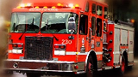 Fire crews have been working since 11 a.m. to control a blaze at an oil battery processing facility in the RM of Brenda.