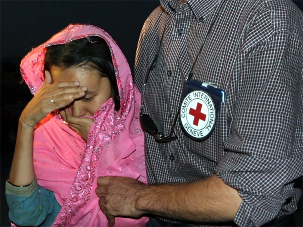 One of the freed Korean hostages is seen after she was released by the Taliban in Ghazni province, west of Kabul on Thursday, Aug. 30, 2007. (AP / Musadeq Sadeq)