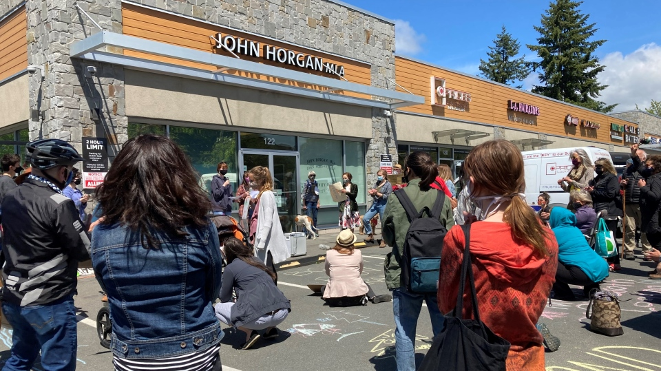 Horgan protest