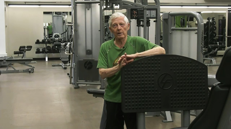 He works out every day and now Wally Kanwischer is our Athlete of the Week