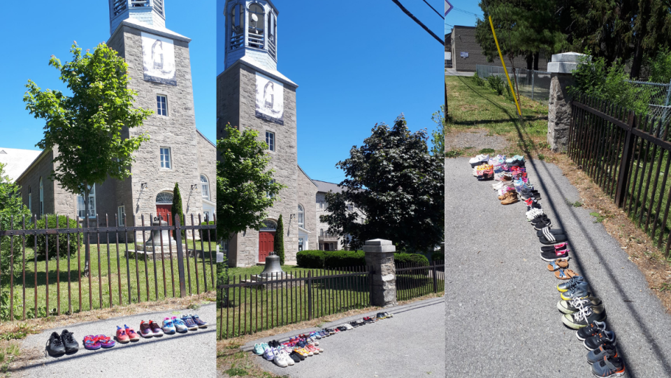 Shoes of commemoration in Kahnawake