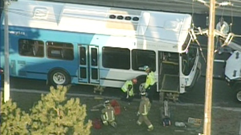 This York bus was involved in a fatal collision with a teenage girl in Vaughan on Thursday, Nov. 12, 2009.