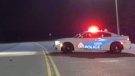 Sudbury police on Big Nickel Mine Road (Alex Lamothe, May 29)