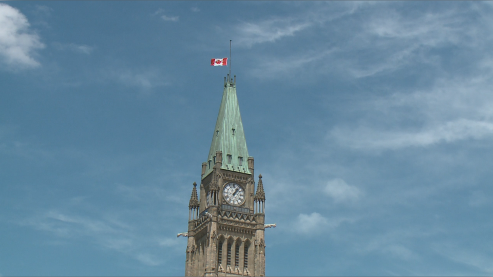 Peace Tower flag lowered