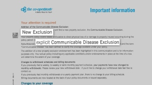 Some homeowners insurance policies are making it clear that communicable diseases are not covered.